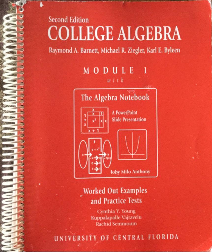 College Algebra -  cover