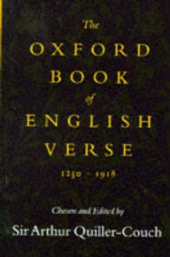 The Oxford Book of English Verse, 1250-1918 -  cover