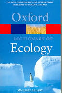 A Dictionary of Ecology -  cover