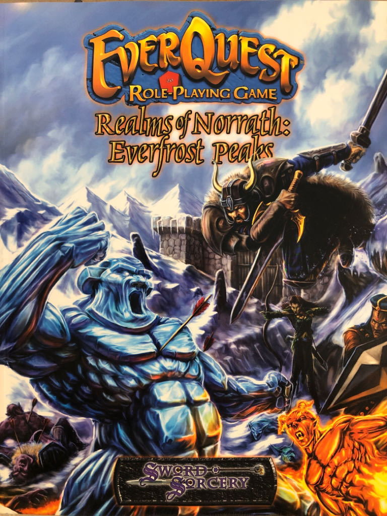 EverQuest RPG: Realms of Norrath - Everfrost Peaks - Paperback cover