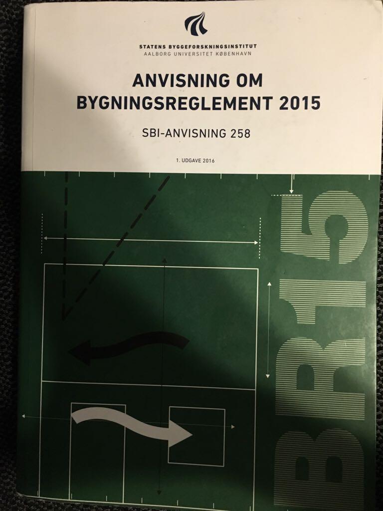 SBI 258 - Anvisning om bygningsreglement 2015 -  cover