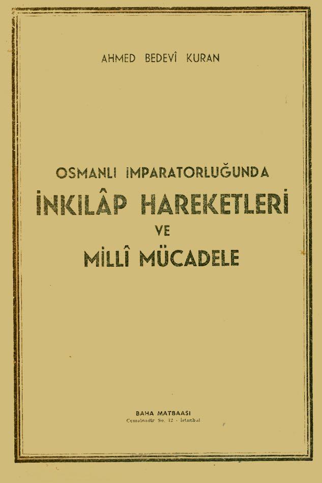 Osmanlı İmparatorluğunda İnkılap Hareketleri ve Milli Mücadele -  cover