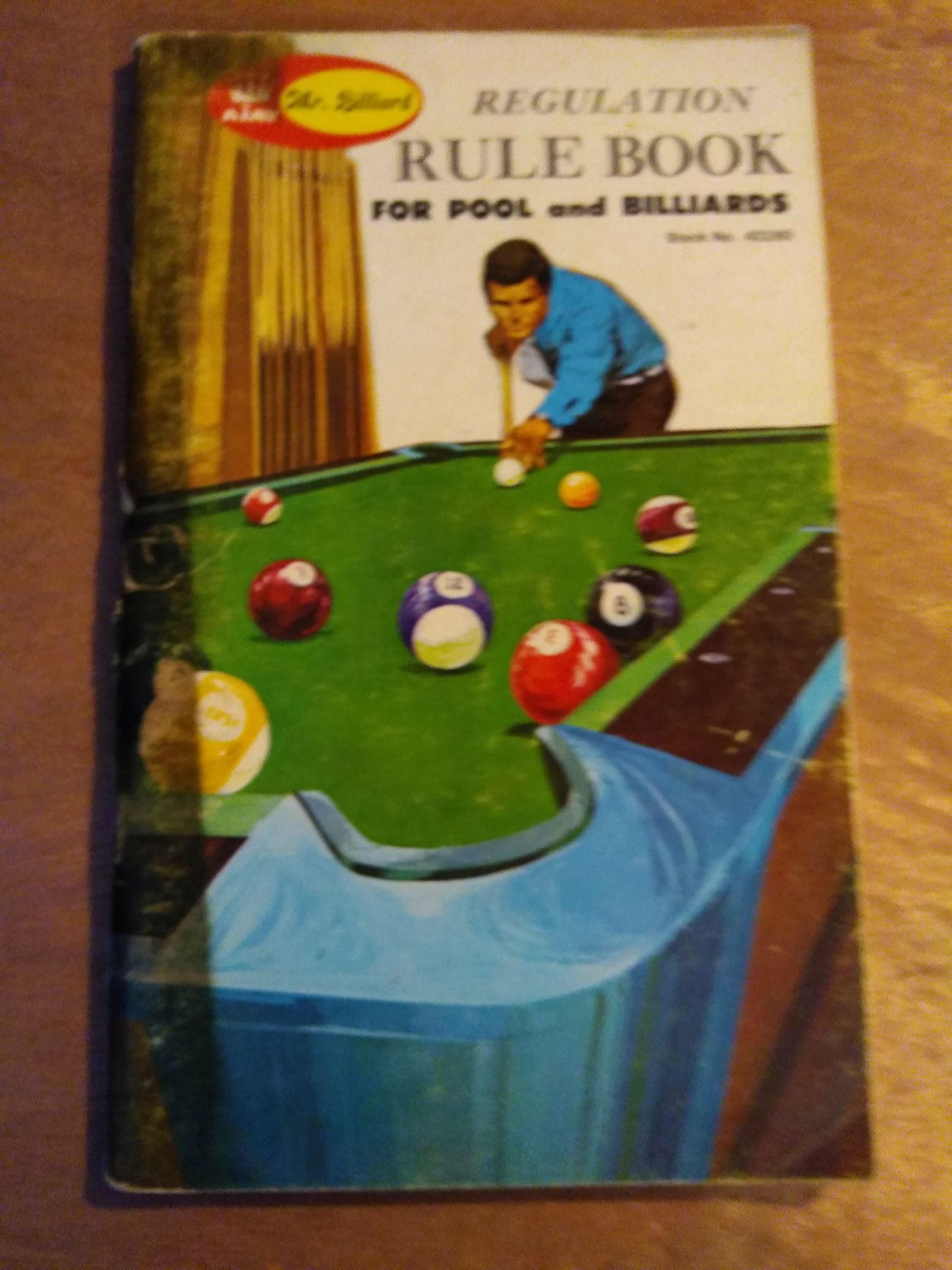 Regulation Rule Book For Pool And Billiards -  cover
