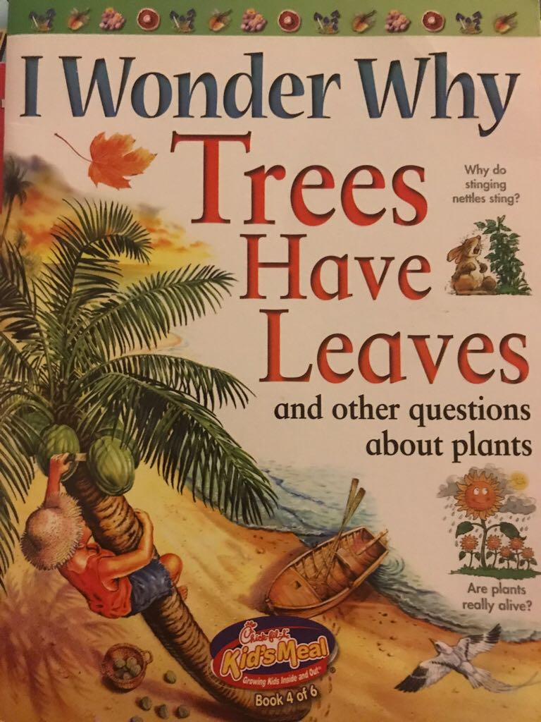 I Wonder Why Trees Have Leaves  -  cover