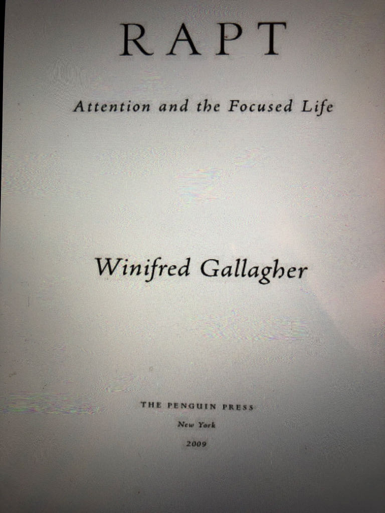Rapt Attention And The Focused Life -  cover