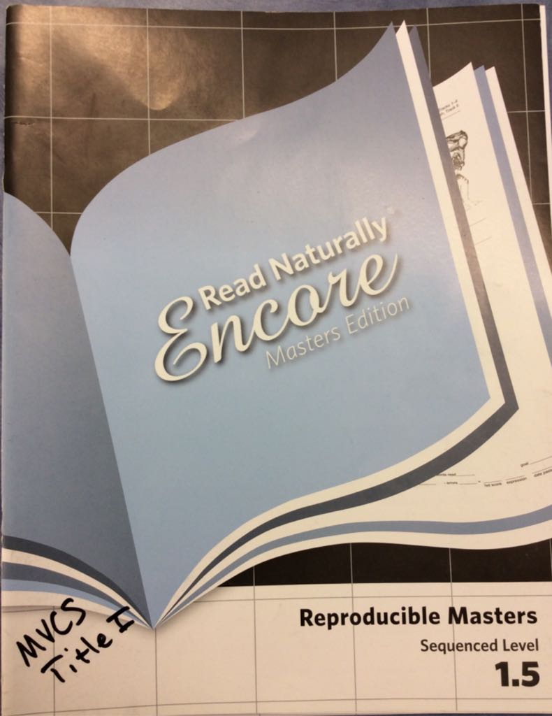 Read Naturally Masters 1.5 -  cover