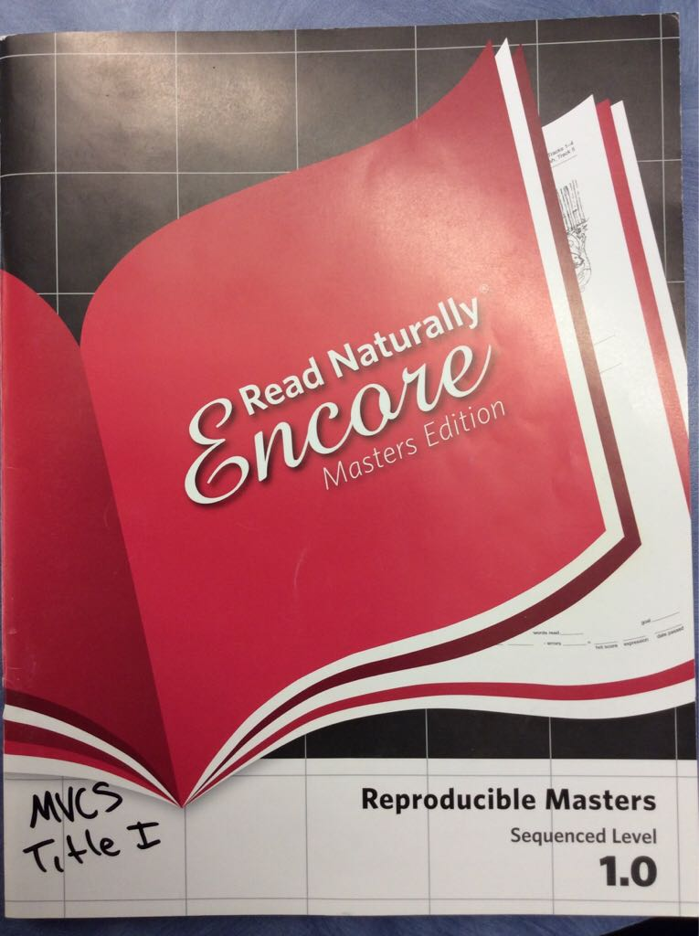Read Naturally Masters 1.0 -  cover
