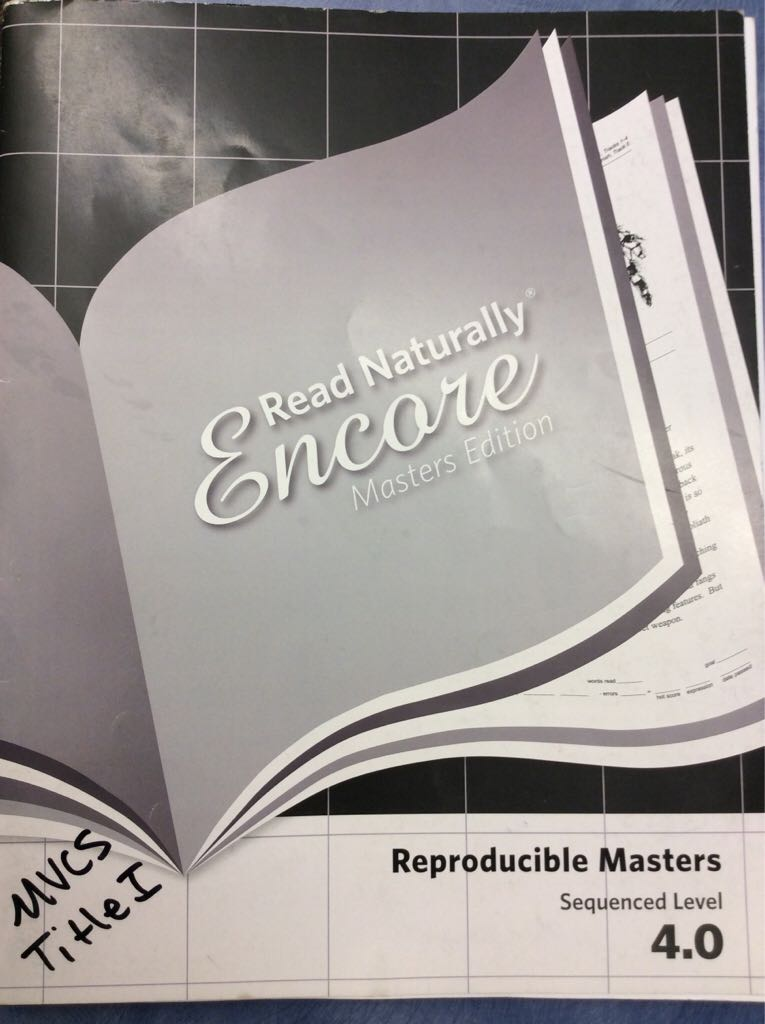 Read Naturally Masters 4.0 -  cover