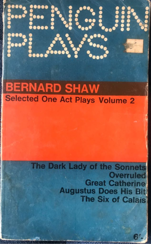 Selected One Act Plays Volume 2 -  cover