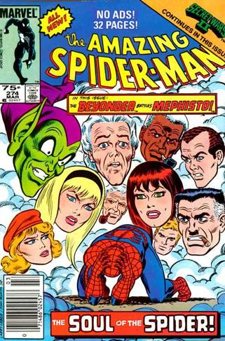 The Amazing Spider-man - 274 cover