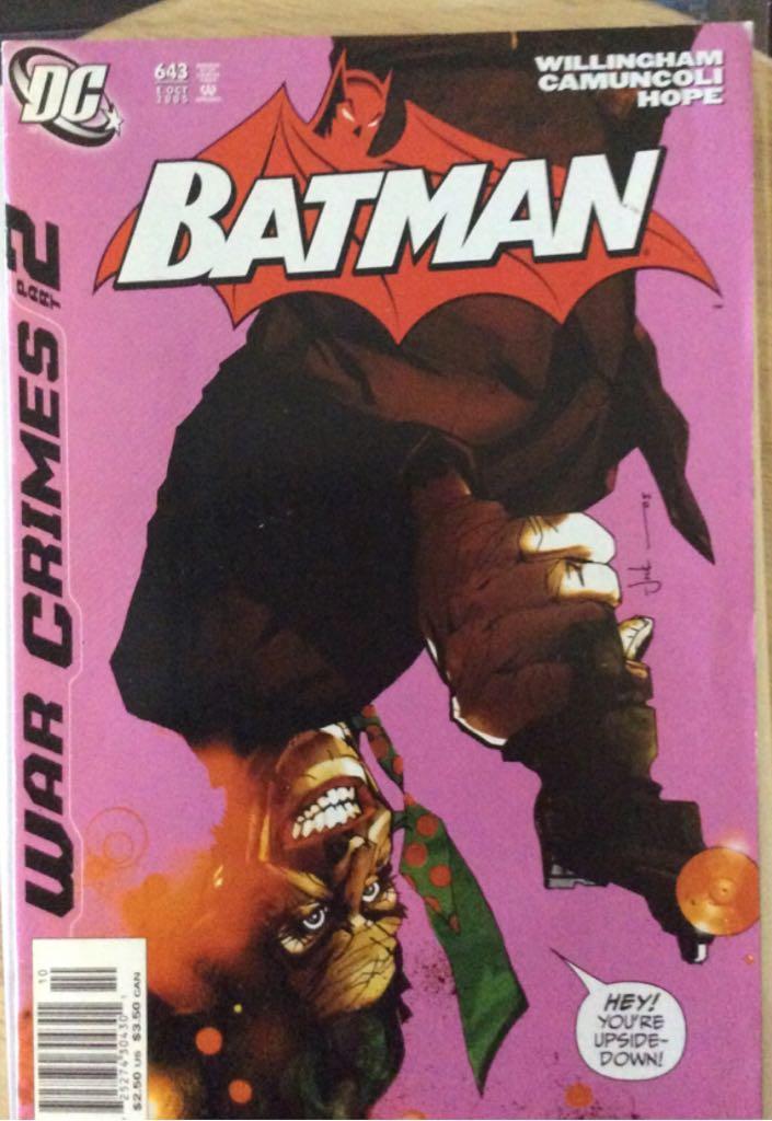 Batman - 643 cover