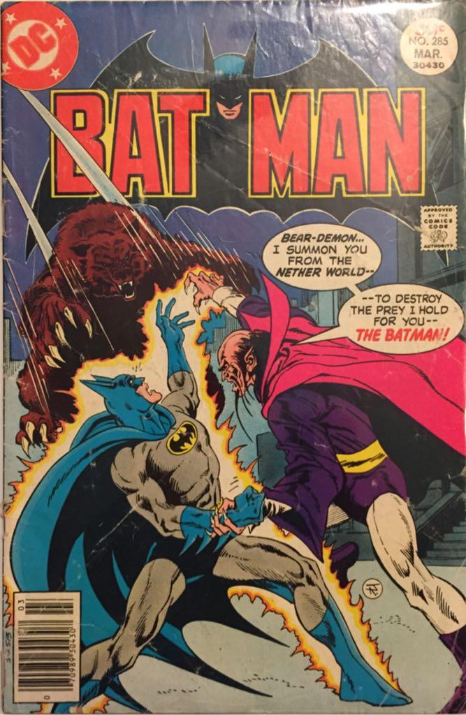 Batman - 285 cover