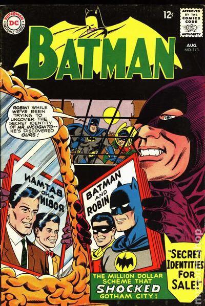 Batman - 173 cover