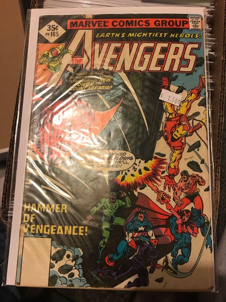 The Avengers - 165 cover