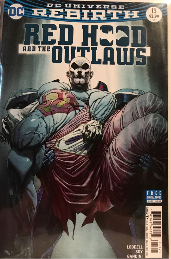 Red Hood and the Outlaws Rebirth  - 13 cover