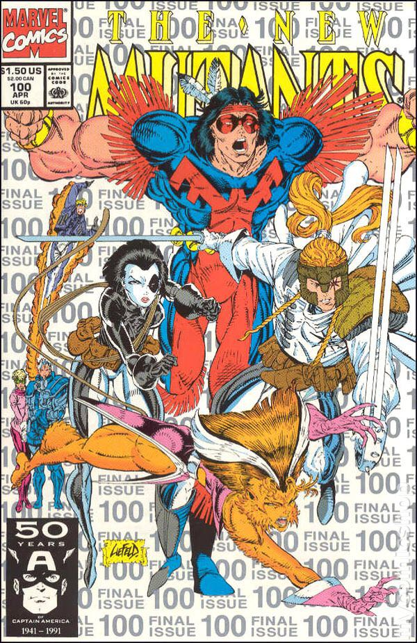 The New Mutants - 100 cover