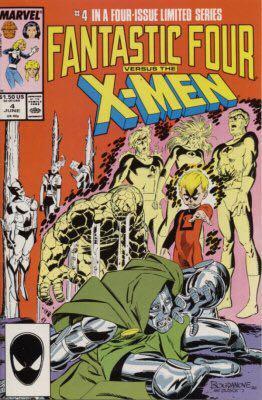 Gamtastic Four Versus The X-men - 4 cover