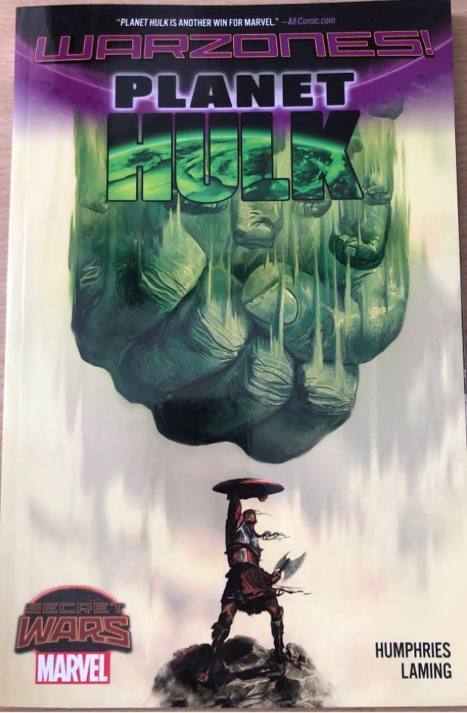 Secret Wars Warzones: Planet Hulk -  cover