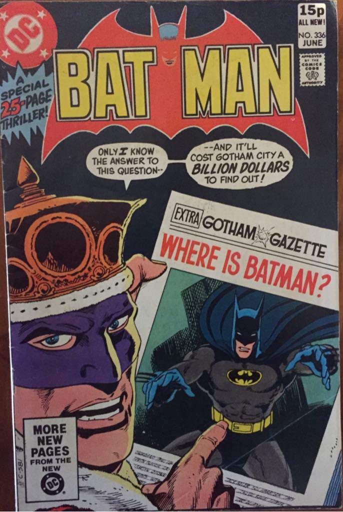 Batman - 336 cover