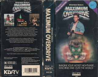 Maximum Overdrive - VHS cover