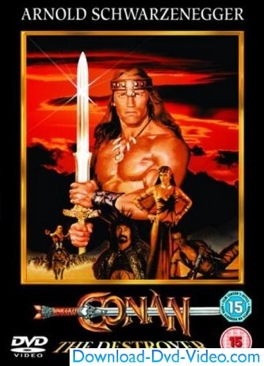 Conan the Destroyer '' - DVD cover