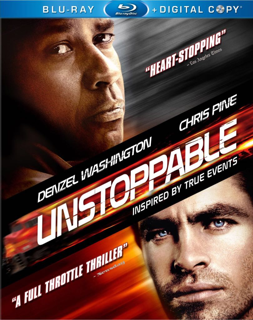 Unstoppable - Blu-ray cover