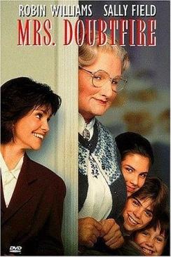 Mrs. Doubtfire.    BR - Blu-ray cover