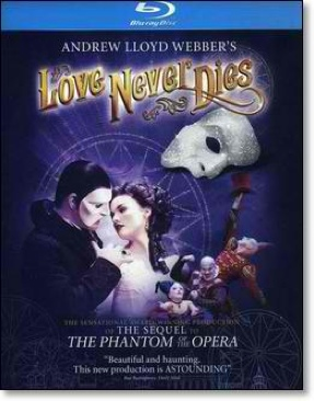 Love Never Dies - Blu-ray cover