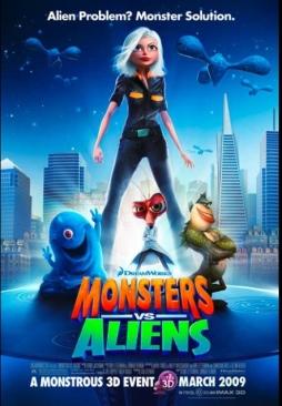 Monsters vs Aliens - Blu-ray cover