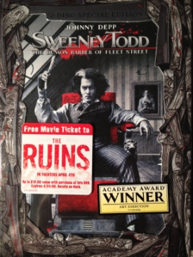Sweeney Todd: The Demon Barber Of Fleet Street - DVD cover