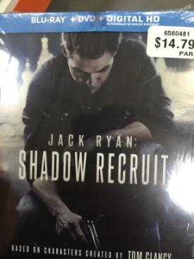 Jack Ryan: Shadow Recruit - Blu-ray cover