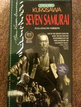 Seven Samurai - VHS cover