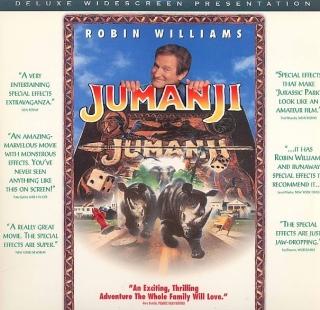 Jumanji - Laser Disc cover