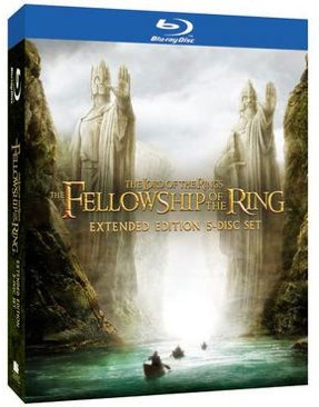 The Lord of the Rings: The Fellowship of the Ring Extended Edition - Blu-ray cover
