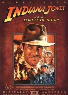 Indiana Jones and the Temple of Doom - Blu-ray cover