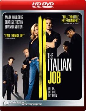 The Italian Job - HD DVD cover