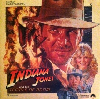 Indiana Jones and the Temple of Doom - Laser Disc cover