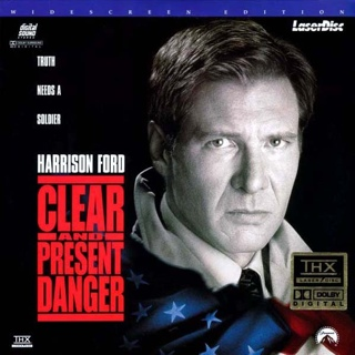Clear and Present Danger - Laser Disc cover
