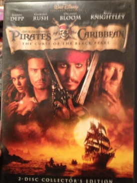 Pirates of the Caribbean 1: The Curse of the Black Pearl - DVD cover