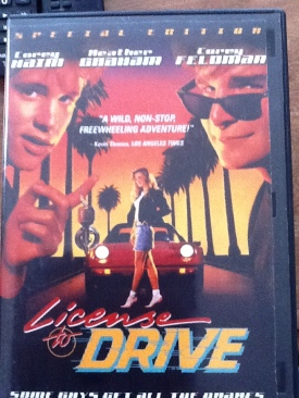License to Drive - DVD cover