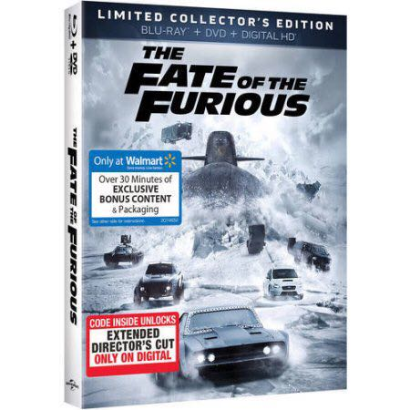 The Fast & The Furious:8 Fate Of The Furious - Blu-ray cover