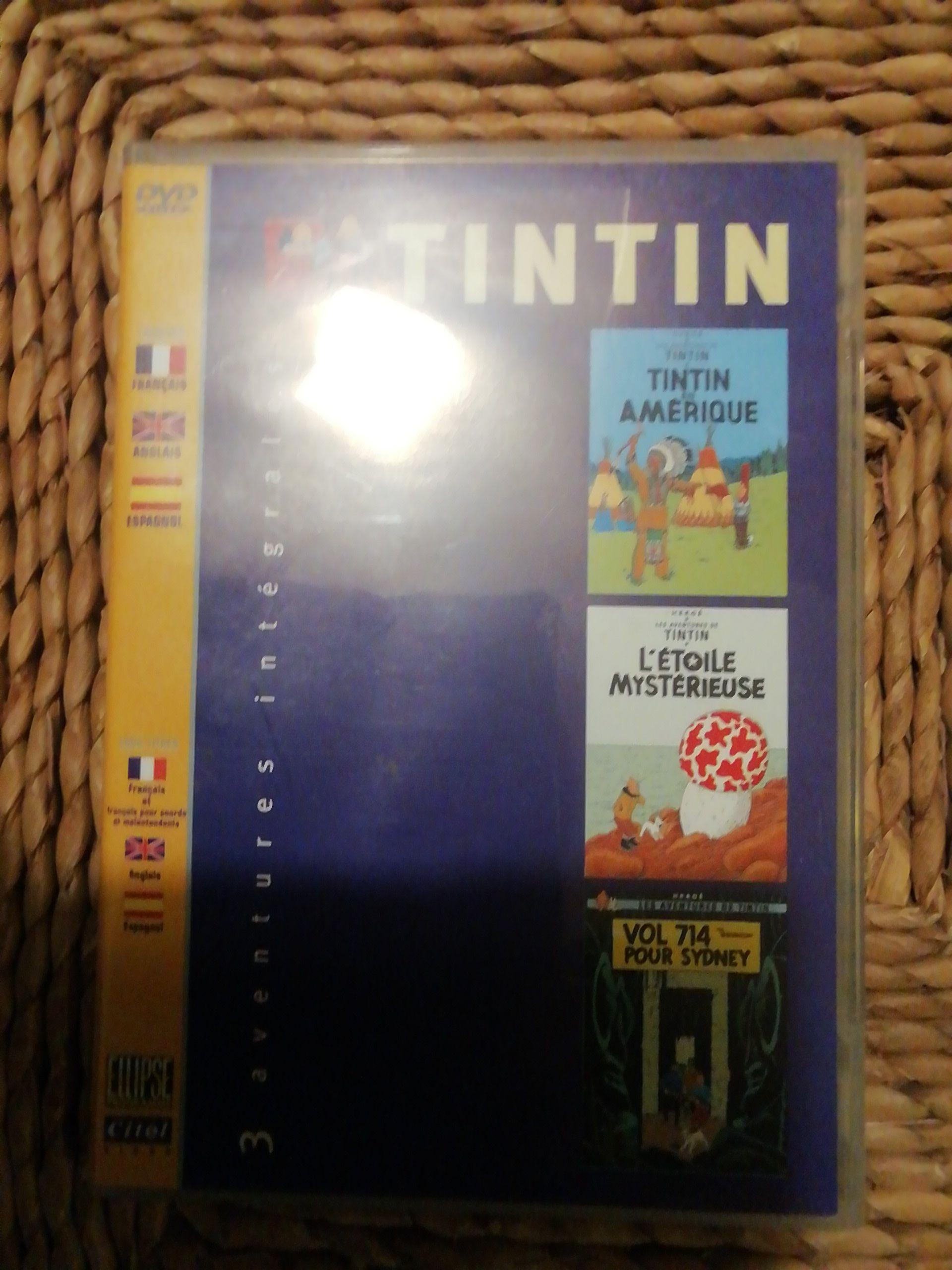 3 ADVENTURES INTÉGRALES DES TINTIN -  cover