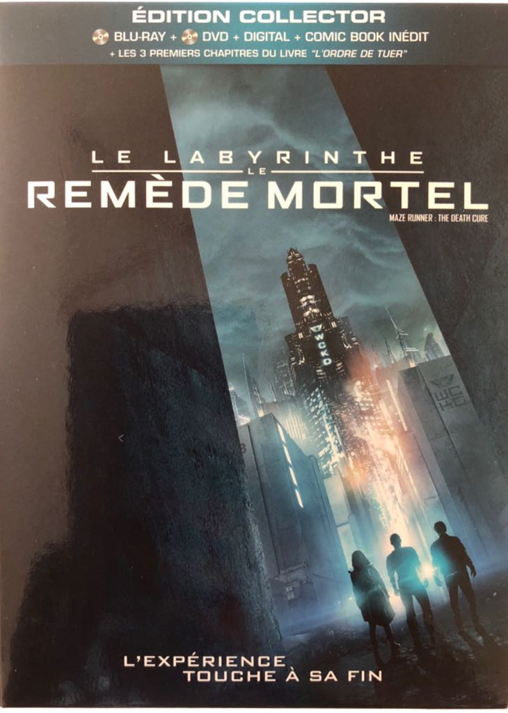 Labyrinthe 3 Remède Mortel -  cover