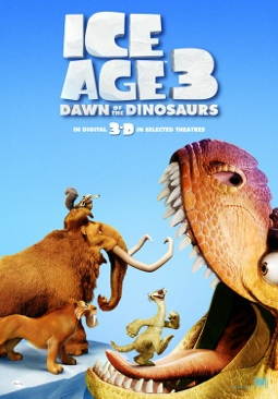 Ice Age 3: Dawn Of The Dinosaurs - DVD cover