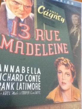 13 Rue Madeleine - VHS cover