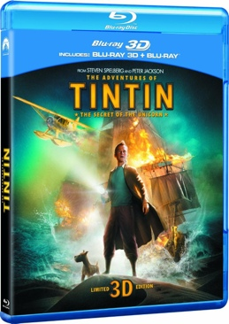 The Adventures Of Tintin - Blu-ray cover