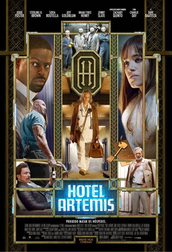 Hotel Artemis (no Case) Burnt Dvd - DVD cover