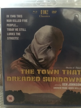 The Town That Dreaded Sundown - Blu-ray cover