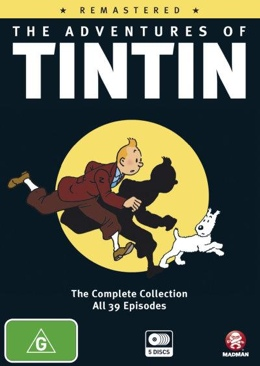 The Adventures Of Tintin - DVD cover