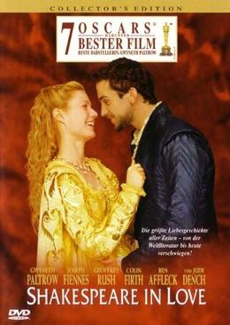 Shakespeare in Love - DVD cover
